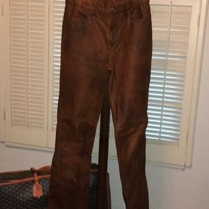Leather Jeans Ralph Lauren Sport 10
